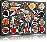 Fruits et légumes Noir / Blanc Taille: 120x80 cm sur toile, d'énormes photos XXL complètement encadrée avec civière, art impression sur murale avec cadre, moins cher que la peinture ou la peinture à l'huile, aucune affiche ou un poster