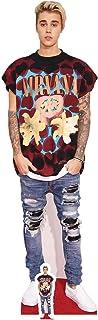 US-Way e.K. Expositor de cartón de Justin Bieber aprox. 176 cm, figura de cine, figura de cartón, tamaño real