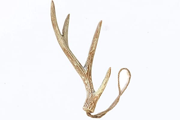 Down Home Designs Faux Deer Antler Ornament Hangers Pack Of 5 For Crafts Holiday And Christmas Decor