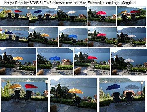 Nouveau-bonne idée cadeau-holly sTABIELO chaise pliable de voyage-parasol-sTABIELO hollysunny ® la plage fREIZEITSCHIRM eINDREHBARER parasol cAMPING léger de haute protection anti-uV de couleur rouge-sTABIELO chaise pliable holly-sunshade ® -! sAISONARTIKEL la durée des stocks de l'abat prix !-chaise-jour : :