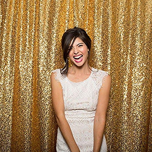 Sequin Backdrop Gold 4ft x 6ft Sequin Photography Backdrop Wedding Photo Booth Backdrop Background Birthday Party Curtain Christmas Prom Backdrop