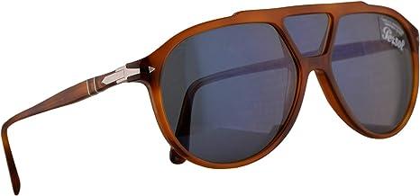Persol 3217-S Sunglasses Terra Di Siena w/Light Blue Lens 59mm 9656 PO 3217S PO3217S PO3217-S