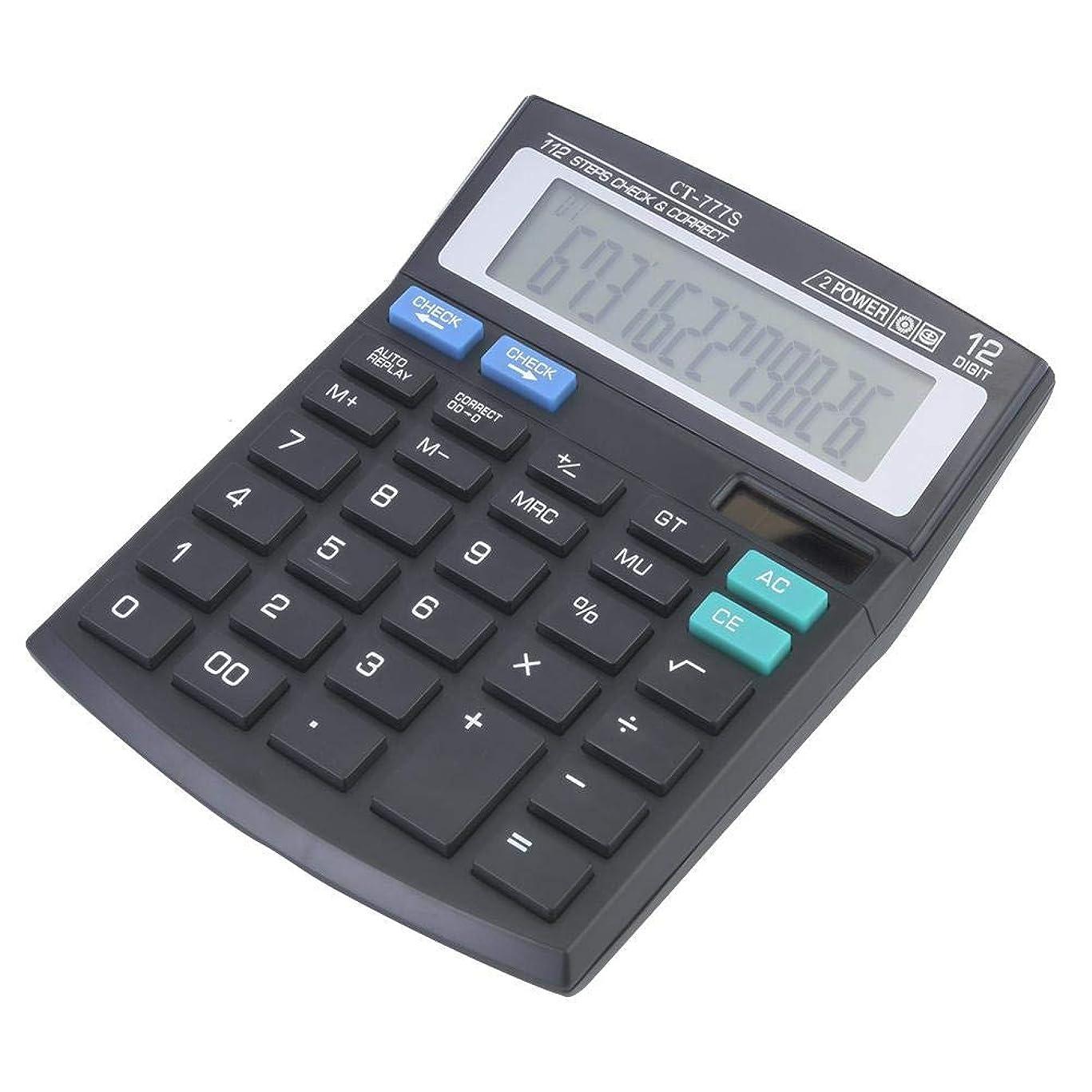 調べるおばさん状手持ち計算機 12桁 大画面計算機 LCD電卓 デュアルパワー オフィスデスクトップ電卓