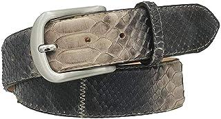 ESPERANTO Cintura Patchwork 4 cm in vera pelle di Pitone Sfumata con fibbia Nichel free e fodera Nabuk