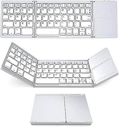 FGFGN Faltbare Ultrad nne Bluetooth Tastatur Mobile Tablet Dreiersystem Universal Tastatur mit Touch Wireless Ausdauer Geeignet f r Android Windows Home Office