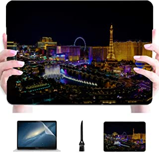Macbook Pro Case 15 Las Vegas Avenue Nevada USA Night Plastic Hard Shell Compatible Mac Laptop Protector Case Protección Accesorios para Macbook con Mouse Pad