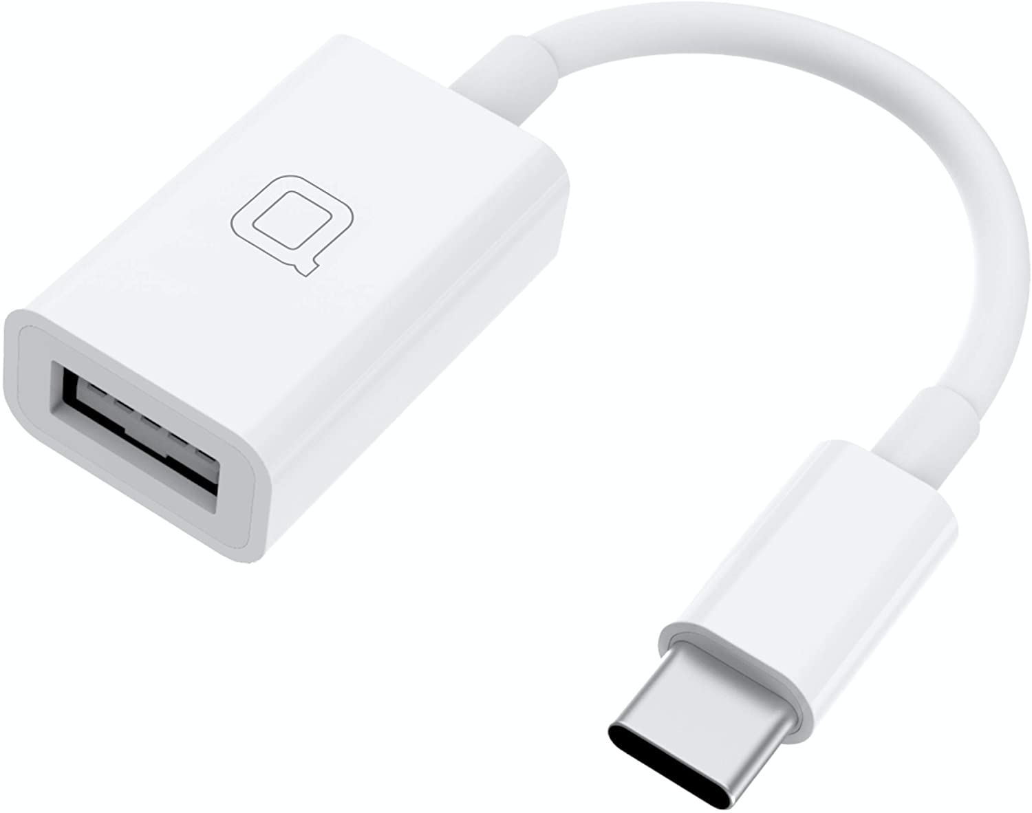 nonda USB C to USB Adapter,USB-C to USB 3.0 Adapter,USB Type-C to USB,Thunderbolt 3 to USB Female Adapter OTG for MacBook Pro 2019,MacBook Air 2020,iPad Pro 2020,More Type-C Devices(White), 1 Pack