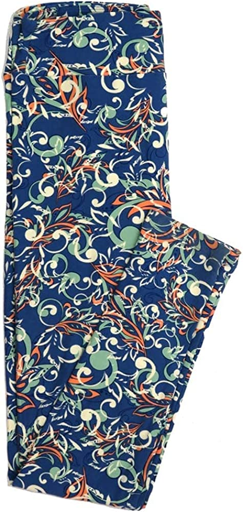 Lularoe One Size OS Floral Buttery Soft Womens Leggings fit Adult Sizes 2-10 OS-4366-AA