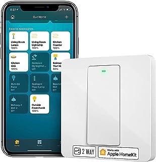 Przełącznik HomeKit, Meross Inteligentny Switch Smart Wi-Fi Przełącznik Ścienny, 2 Sposób Wymagane Neutralny, Fizyczny Prz...