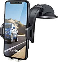 Dashboard Car Phone Mount - Lamicall Dash Mount Cell Phone Holder Stand for Car with Strong Suction Cup, Compatible with iPhone 11 Pro Xs Max XR X 8 7 6 Plus Samsung S10 S9 S8, 4-6.5'' Phones