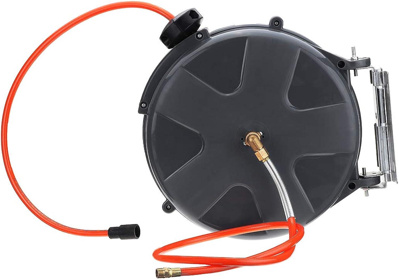 Wuchance 1 4 X 33 'Retractable Auto Rewind Luftschlauchtrommel Schnurtrommel Rotation Wandhalterung 260 PSI