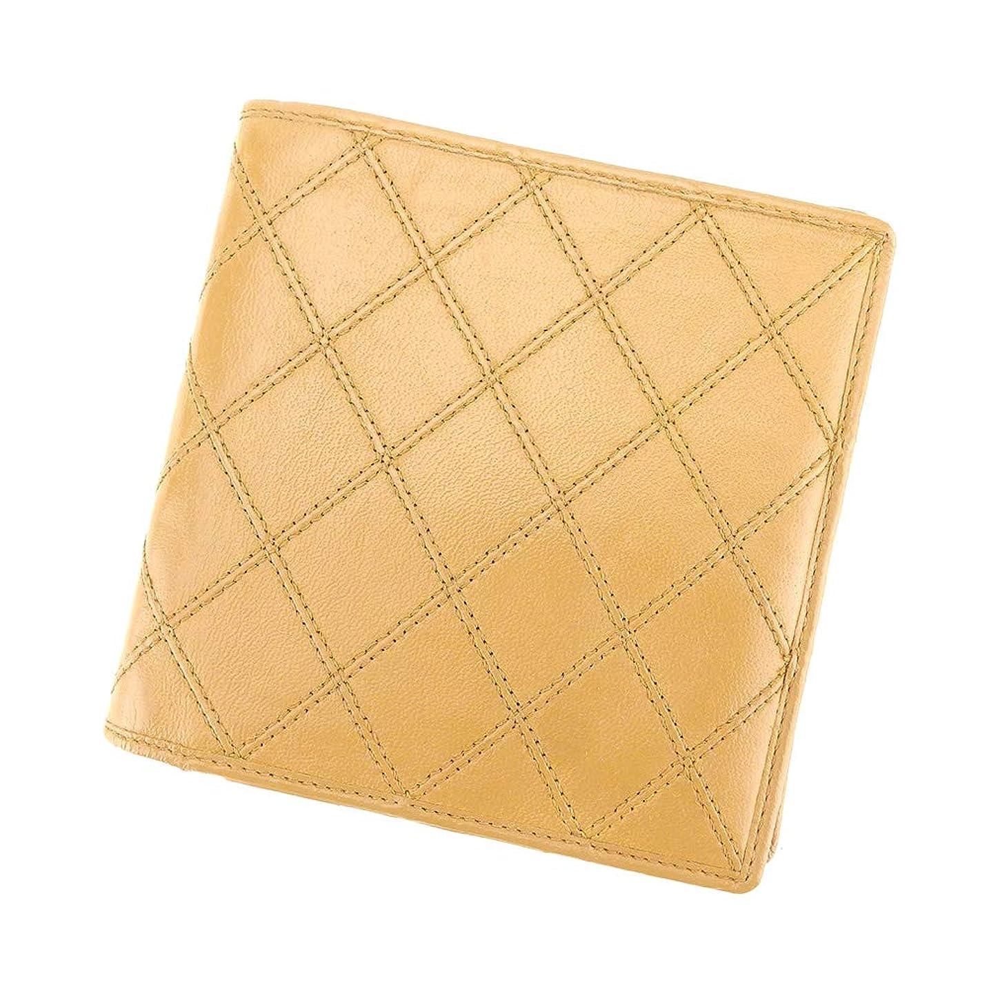 空スイ汚い[シャネル] CHANEL 二つ折り 財布 財布 レディース メンズ ビコローレ 中古 T9265