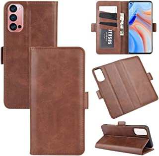 Phone case For OPPO Reno4 Pro 5G Dual-side Magnetic Buckle Horizontal Flip Leather Case with Holder & Card Slots & Wallet(...