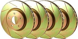 Brakenetic Sport Slotted Brake Disc Rotors [EVO 8 9] BSR79773 [FRONT + REAR SET]