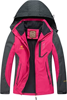 Diamond Candy Women Windproof Hooded Ski Waterproof Rain Jacket Lightweight for Hiking