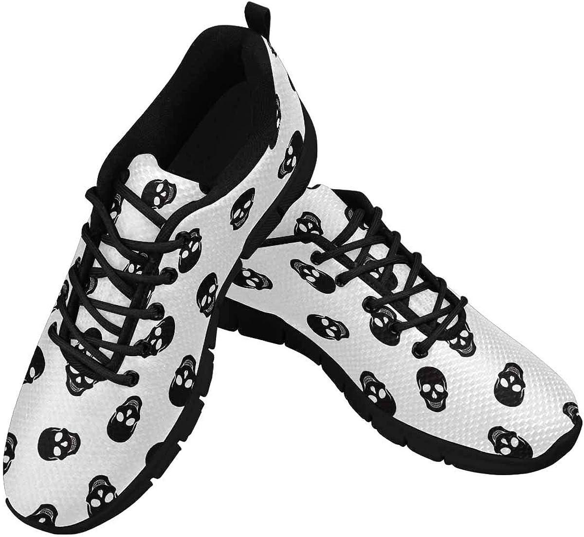 INTERESTPRINT Abstract Skull Women's Breathable Sneaker