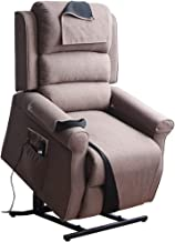 Irene House Power Modern Transitional Lift Chair Recliners with Soft Linen(Brushed ) Fabric (Brown)
