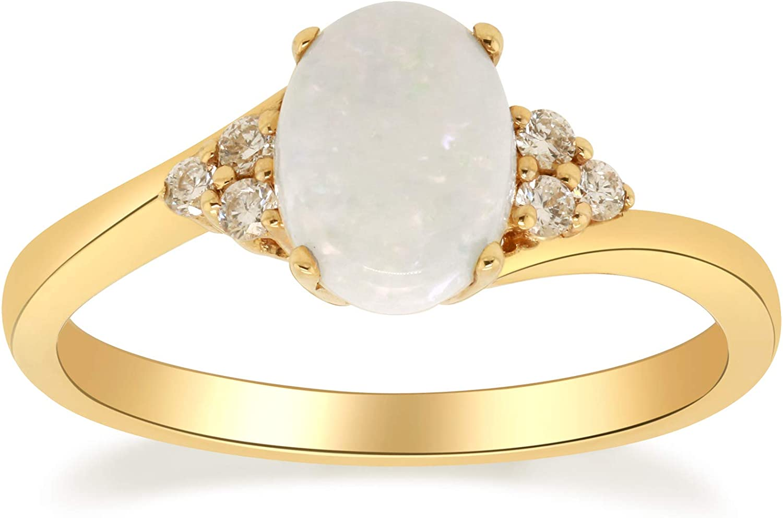 Gin Grace 10K Yellow Gold Ethiopian Natural Diamond San Antonio Mall Opal Sales results No. 1 I1