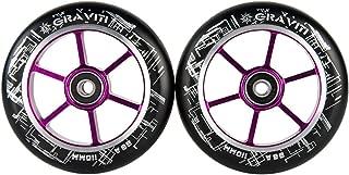 GRAVITI One Pair 110mm Pro Stunt Scooter Wheels ABEC-9 Bearings CNC Metal Core (2pcs)