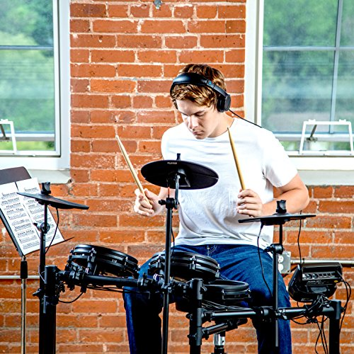 Alesis Drums Nitro Mesh Kit | Eight Piece All Mesh Electronic Drum Kit With Super Solid Aluminum Rack, 385 Sounds, 60 Play Along Tracks, Connection Cables, Drum Stic   ks