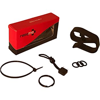 RESQME Accessory Pack The Original Emergency Keychain Car Escape Tool, 2-in-1 Seatbelt Cutter and Window Breaker, Made in USA with Visor Clip, Lanyard, Keyring and Cable Tie
