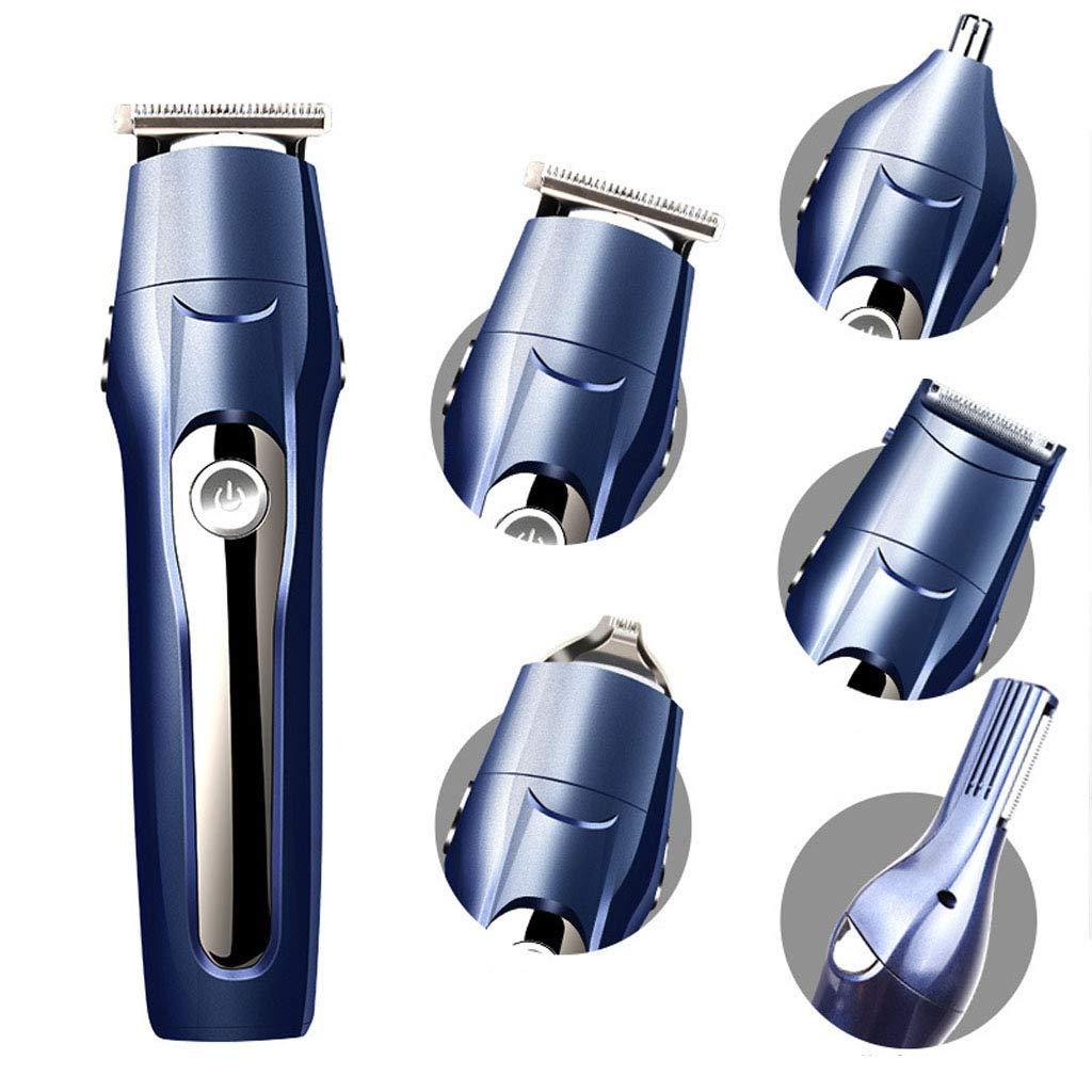 FLOR FALSA Afeitadora Electrica Hombre, Afeitadora Barba IP7 Impermeable Maquina De Afeitar 5 En 1, Eléctrico Maquina Afeitar Recortador Barba /Nariz/Cabeza/Cara/Cuerpo, USB Carga Rápida: Amazon.es: Hogar