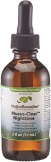 NativeRemedies Mucus-Clear Nighttime - Temporarily Relieves Mucus Congestion, Supports Easy Breathing and Peaceful Sleep - 59 mL