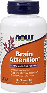Now Supplements, Brain Attention with Cera-Q, 60 Chewables
