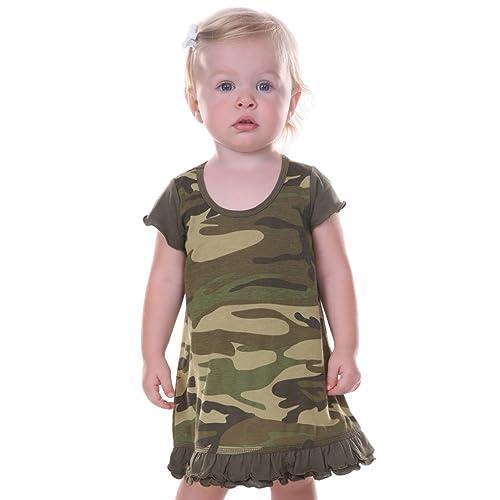 4d7f9282b87cc Kavio! Infants Girls Camouflage A-Line Short Sleeve Dress