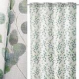 Visillo con Estampado Hiedra Verde contemporáneo de poliéster de 260x135 cm - LOLAhome