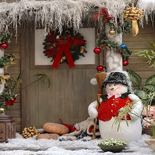Yeele Dreamy Christmas Backdrop Snowman Under The Starry Sky Photography Background Kids Adults Artistic Portrait 20x10ft Xmas Decoration Kid Acting Events Photo Booth Photoshoot Props