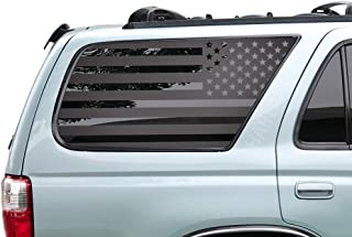USA American Flag Decals for Toyota 4Runner in Matte Black for side windows - 3rd Generation 4runner - FR13A