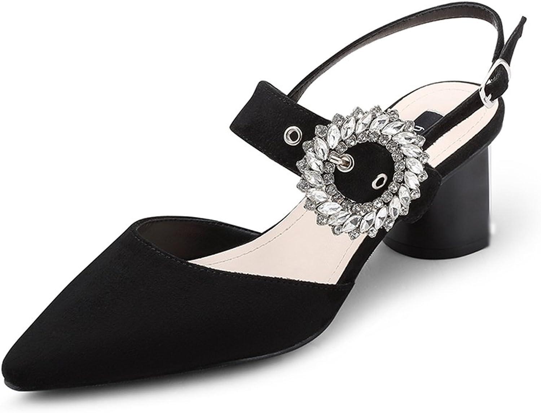 JE schuhe Weibliche High Heels Strass Sandalen mit Einer Einzelnen Schuhe Koreanische Version