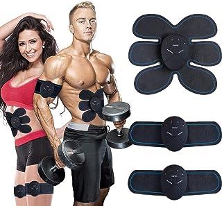 MASOMRUN Electroestimulador Estimulador Muscular Abdominales,EMS Estimulador Abdominales Muscular Masajeador CinturónMuscular Abdominales, para Abdomen/Cintura/Pierna/Brazo