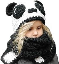 Tacobear Invierno Gorros de Punto Cálidos Bebé Gorros de Animales Lindos Sombrero y Bufanda Otoño Invierno Gorros Gorras Chales Cofia Capucha para Niños Niñas