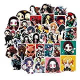 Demon Slayer: Kimetsu no Yaiba Waterproof Laptop Stickers Waterproof Skateboard Snowboard Car Bicycle Luggage Decal 50pcs Pack (Demon Slayer: Kimetsu no Yaiba)