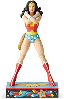 Enesco DC Comics Justice League by Jim Shore Wonder Woman Silver Age Figurine, 8.5 Inch, Multicolor