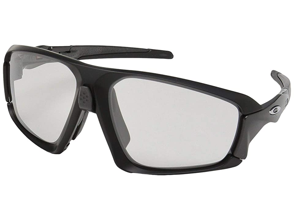 Oakley Field Jacket (Matte Black/Carbon w/ Clear/Black Photochromic) Sport Sunglasses
