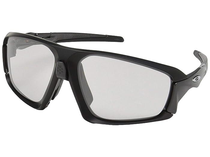Oakley Field Jacket (Matte Black/Carbon w/ Clear/Black Photochromic) Sport Sunglasses