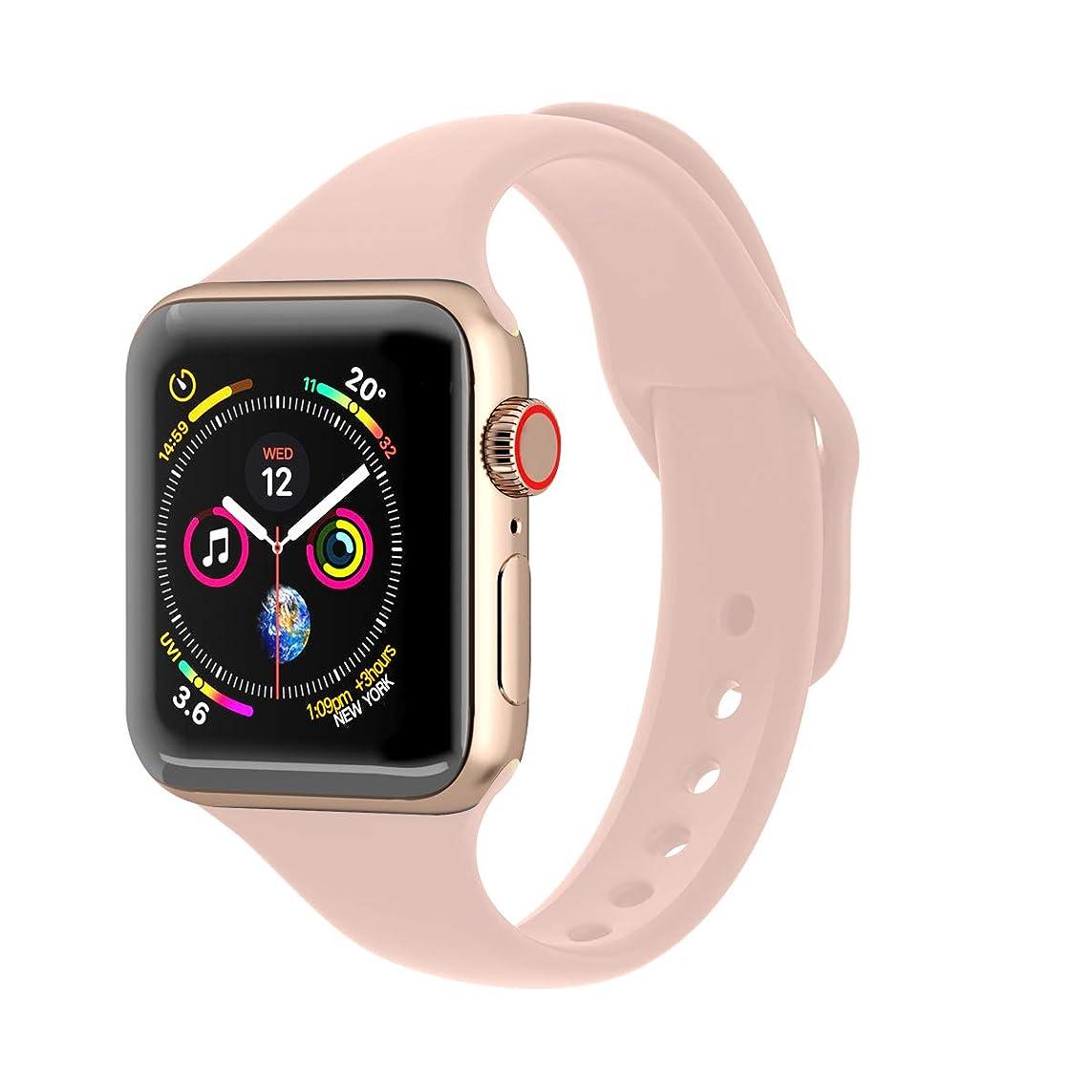 最小黒組み合わせるUPPU Watch バンド 柔らかいシリコンスポーツリストバンド、互換 全Apple iwatch 38MM/40MM/42MM/44MM バンド 1、2、3、4、5世代対応