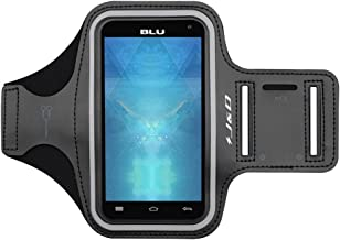 J&D Armband Compatible for BLU Studio X8 HD Armband, Sports Armband with Key Holder Slot for BLU Studio X8 HD Running Armband, Perfect Earphone Connection While Workout Running
