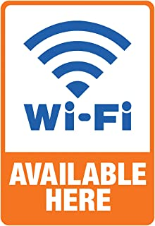 """Cosco Sign, WIFI HERE Decal, 5.25"""" x 6.25"""" (098359)"""