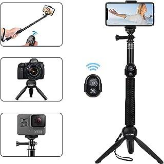Alfort Palo Selfie Selfie Stick Bluetooth Trípode Portátil con Control Remoto per iPhone 11 Pro/X/8/Samsung GALAXY S10/S9/Huawei P20/Mate 10 y Otros Teléfonos con Android/iOS (6.0)