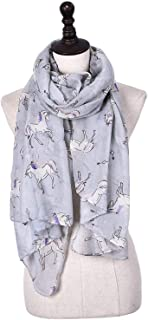 Scarf Large-Format Balineseise Yarn Horse Print Four Seasons Shawl Street Multi Function Warm air Cooling Measures Sunscreen dustproof Lady's 5 Colors Selection` TuanTuan (Color : Gray)