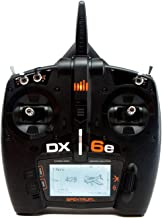Spektrum DX6e 6-Channel DSMX 2.4GHz RC Radio Transmitter Only (No Receiver) with 250 Model Memory | Telemetry | Wireless Trainer Link, SPMR6655