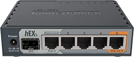 MikroTik hEX S Gigabit Ethernet Router with SFP Port (RB760iGS)