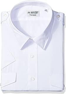 Van Heusen Mens Men's Pilot Dress Shirt Short Sleeve Dress Shirt