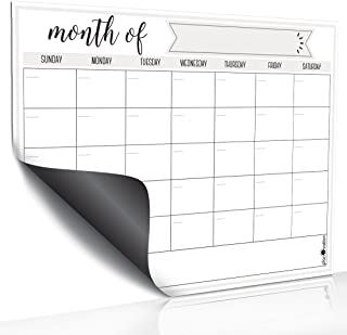 Magnetic Dry Erase Refrigerator Calendar by planOvation (Monthly - Grey)