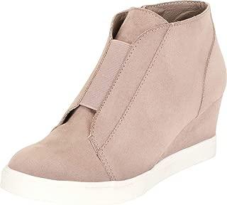 Cambridge Select Women's Stretch Chunky Platform Wedge Fashion Sneaker