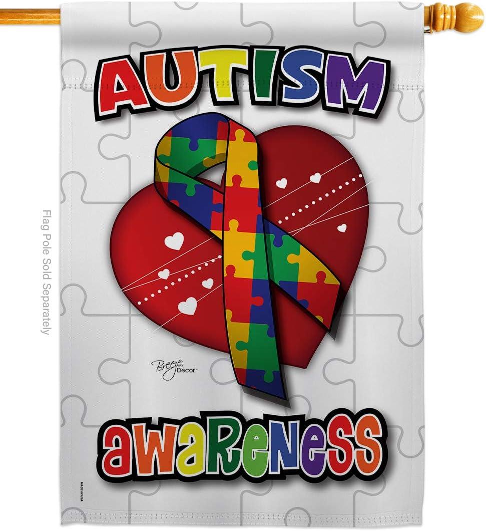 Breeze OFFicial shop Decor H115085 Autism Inspirational Deco Support Awareness Max 67% OFF